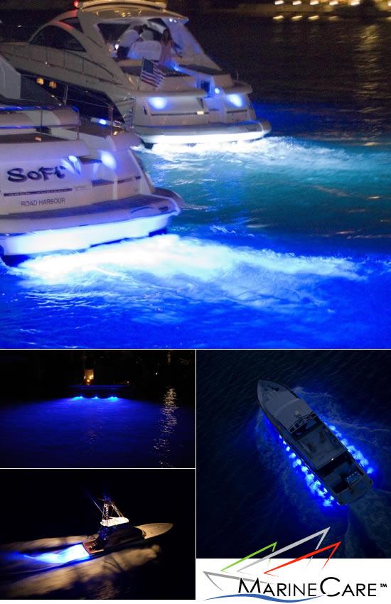 MarineCare fører et stort udvalg af high-end LED undervandslys med lavt strømforbrug og lang levetid. Flot tilvalg til motor eller sejlbåden, der samtidig højner sikkerheden ved ombordstigning i mørke.