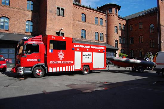brandbiler der er over i københavn