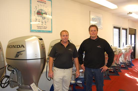 På billedet ses fra venstre de to ejere Morten Andersen og Thomas Mikkelsen.